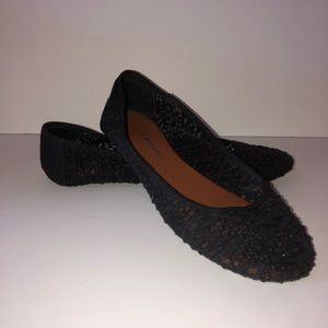 Lucky brand blue lace women's shoes.